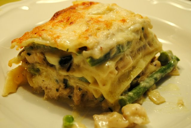Chicken-asparagus-lasagna
