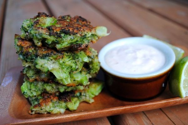 BROCCOLI PARMESAN FRITTERS - THE LAST WONTON