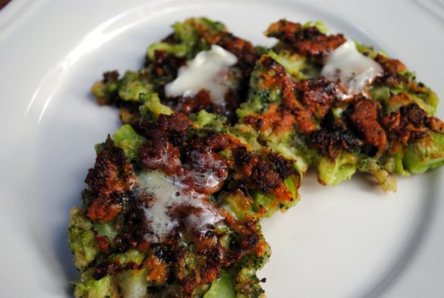 Broccoli fritters butter