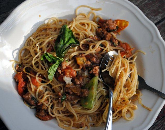 Summer pasta bowl
