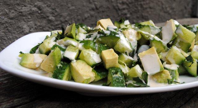 Splendid Little Avocado Cucumber Salad The Last Wonton
